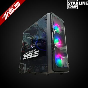 POWERED BY ASUS Intel Core i3-9100F GTX1660 6Gb, 16 gb RAM,SSD 120gb,HDD 1000gb