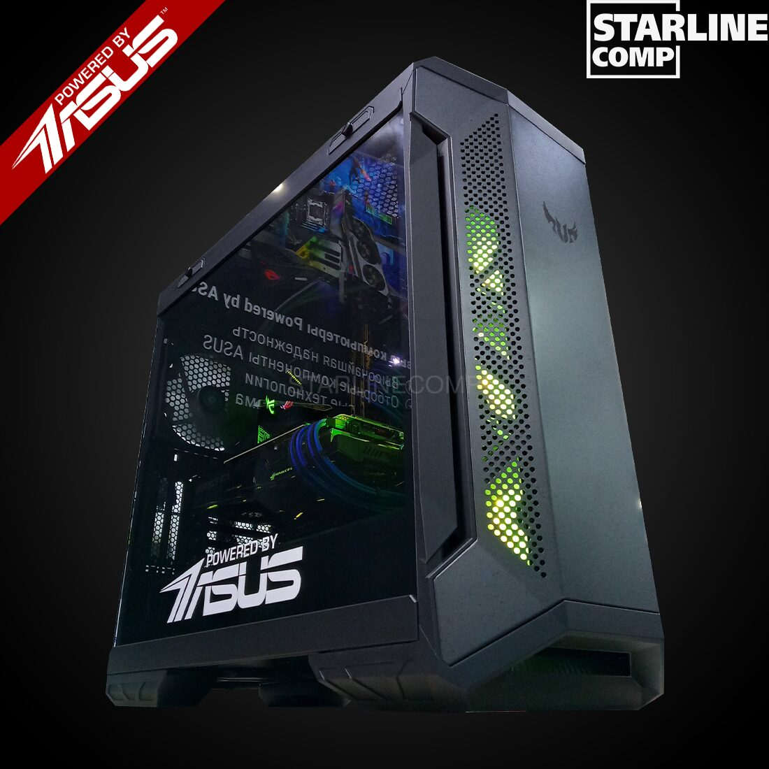 POWERED BY ASUS Intel Core i9-9900KF, RTX2080Ti 11Gb, SSD 500Gb, HDD 2000Gb