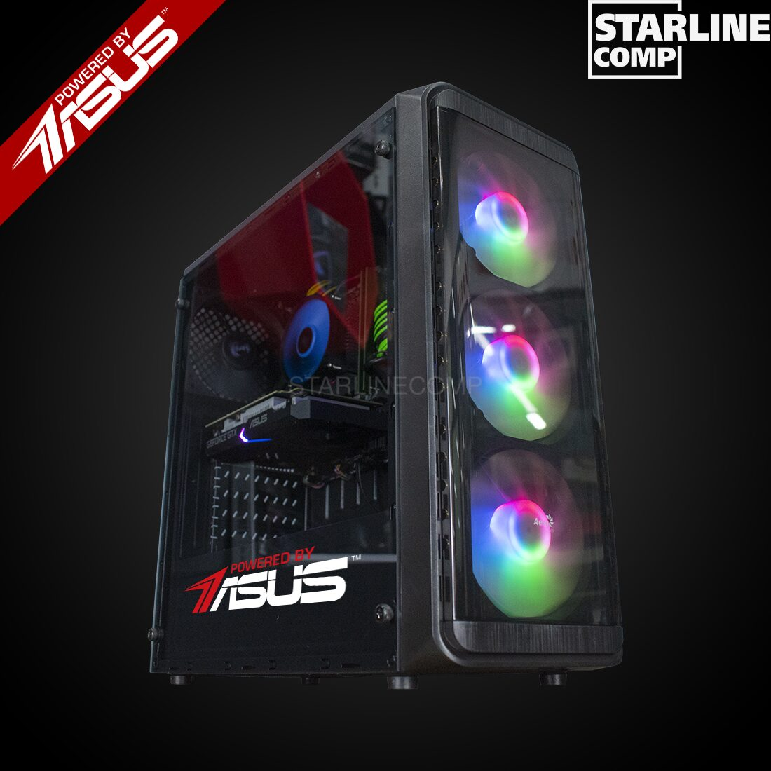 POWERED BY ASUS!!! Intel Core I3-10100F, 16Gb RAM GTX 1650 4Gb, SSD 120gb,HDD 1000gb
