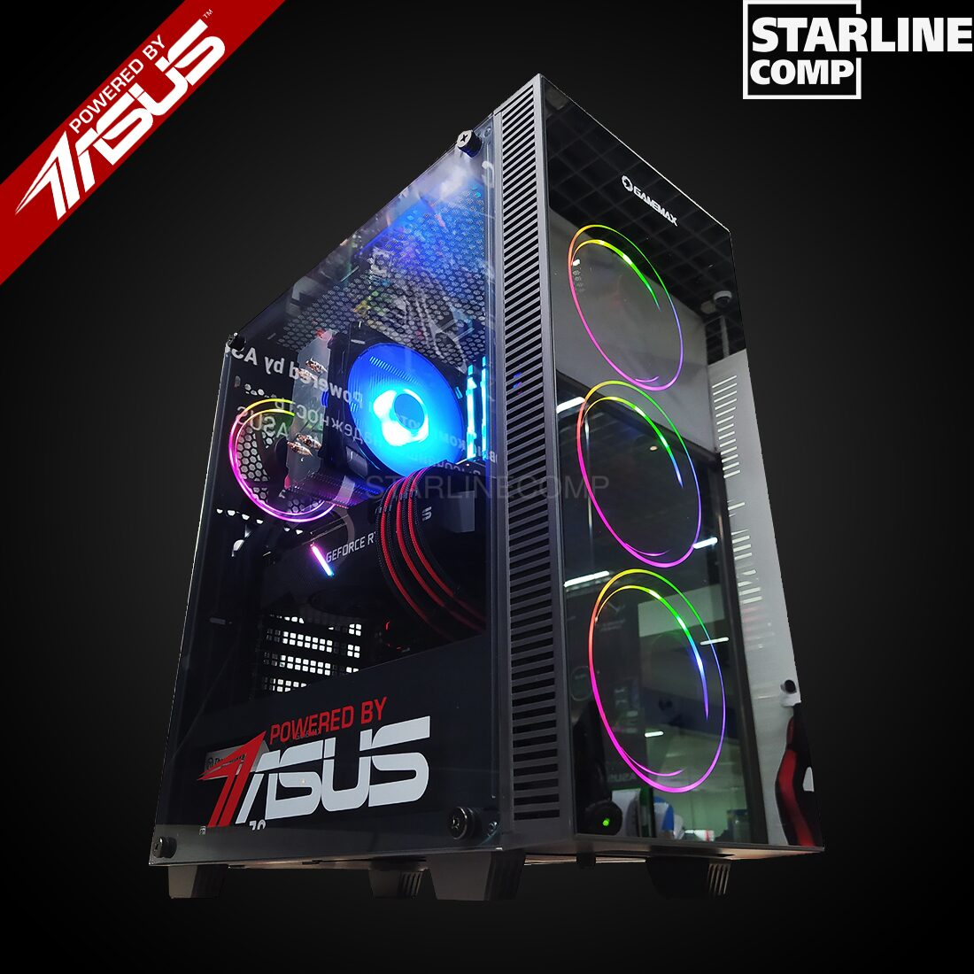 НОВИНКА POWERED BY ASUS!!! Intel Core i5-10600, 16Gb RAM, RTX 3070 8Gb,SSD 480 gb,HDD 1000gb