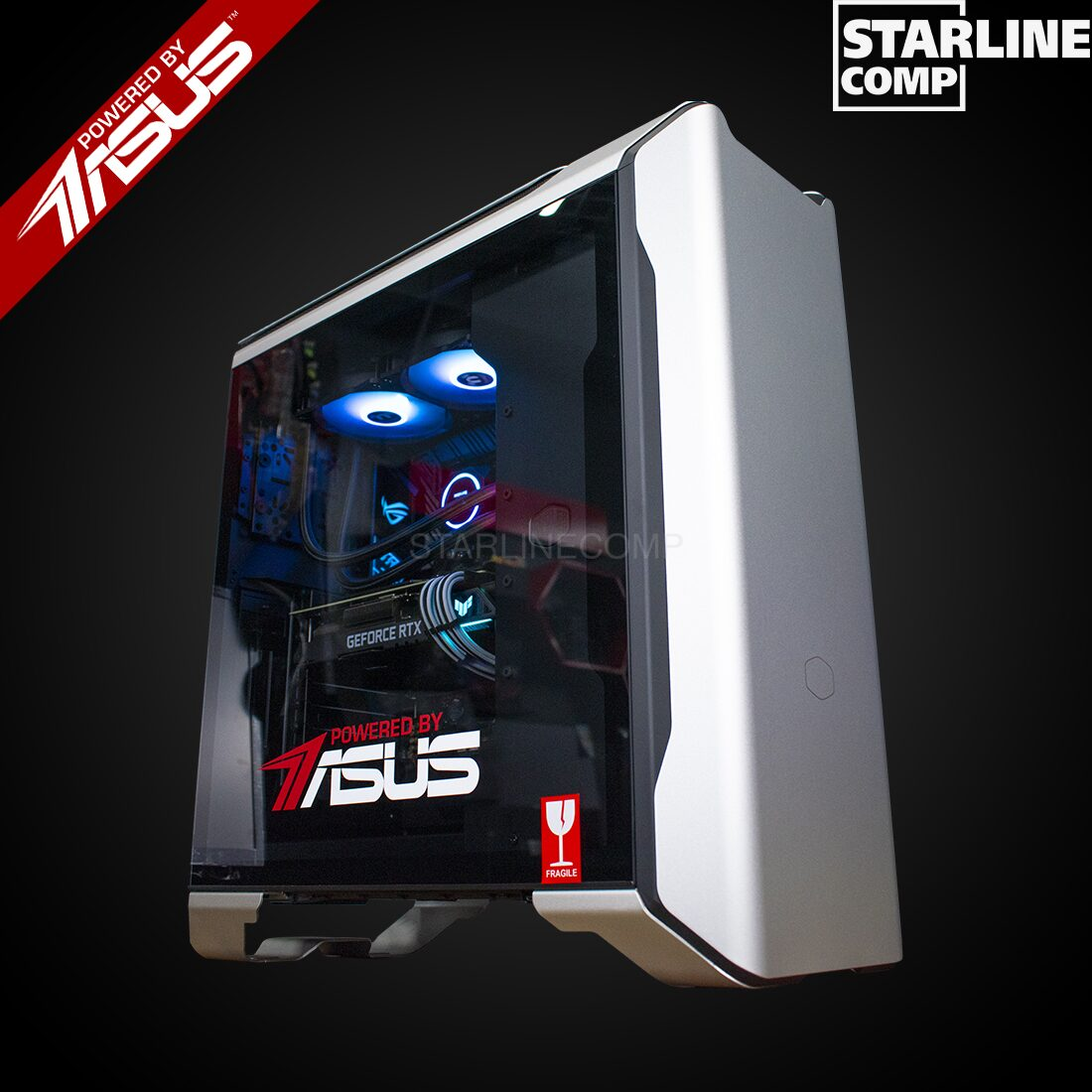 НОВАЯ СБОРКА POWERED BY ASUS!!! INTEL CORE I9-10900F, 128Gb RAM, RTX 3080 OC 10Gb, SSD 1000Gb, HDD 4000Gb