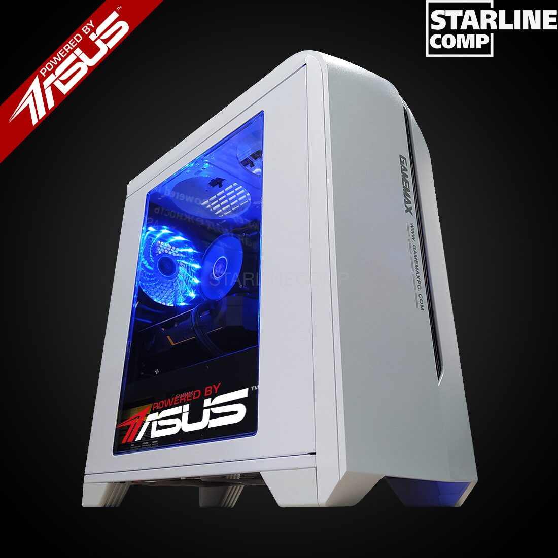 НОВАЯ СБОРКА POWERED BY ASUS!!! INTEL CORE I3-10100F, 16Gb RAM, GTX 1650 Super 4Gb,SSD 240gb,HDD 2000gb